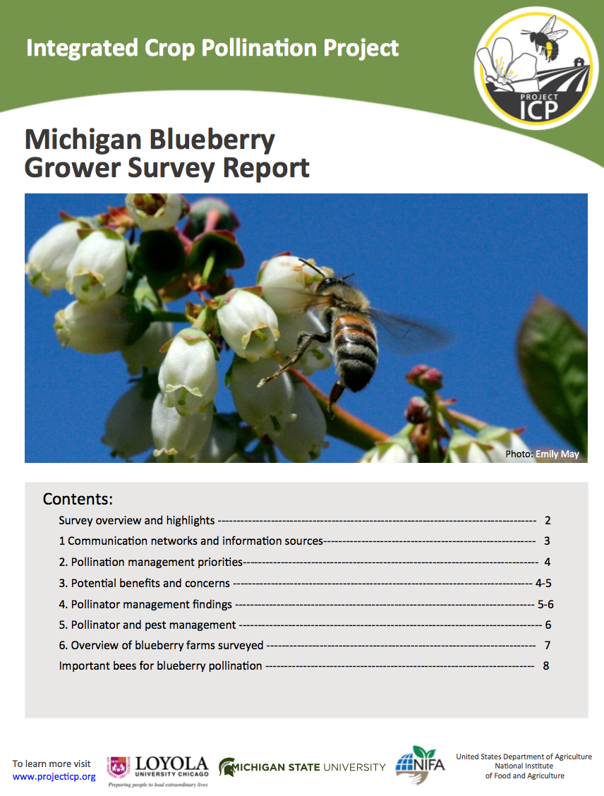 Survey of Michigan Blueberry Growers' Pollination Practices Shows Widespread Adoption of Reduced-Risk Pesticide Practices
